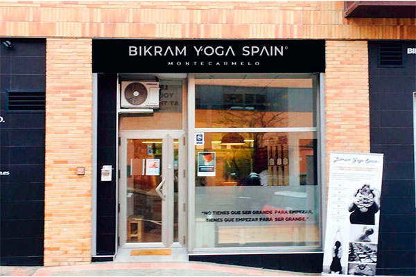 Entrance to Bikram Yoga Spain Montecarmelo