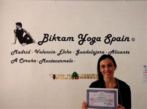 Elena profesora bikram yoga