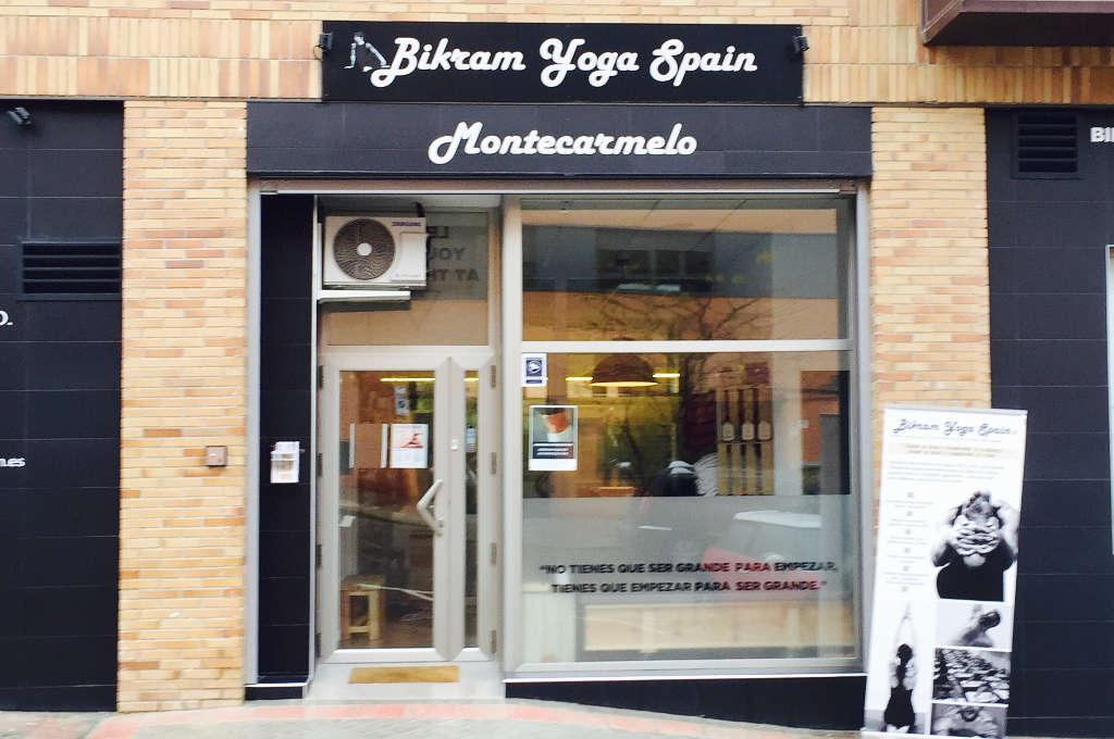 Entrada a Bikram Yoga Spain Montecarmelo