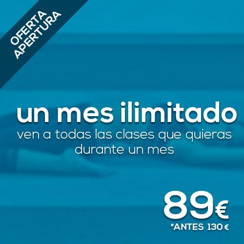 Oferta Apertura yoga 1 mes ilimitado ahora 89€ antes 130€