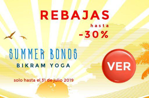 Rebajas-verano-ofertas Bikram Yoga 2019